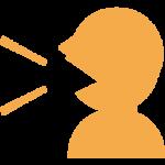 しゃべる人の無料アイコン_orange